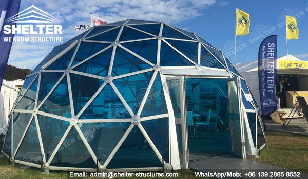 Dia.8m Aluminum Polycarbonate Dome House