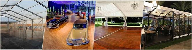 application expansion of event tent with cassette floor