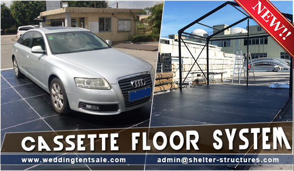 New cassette floor system – Cost effective flooring for event tents