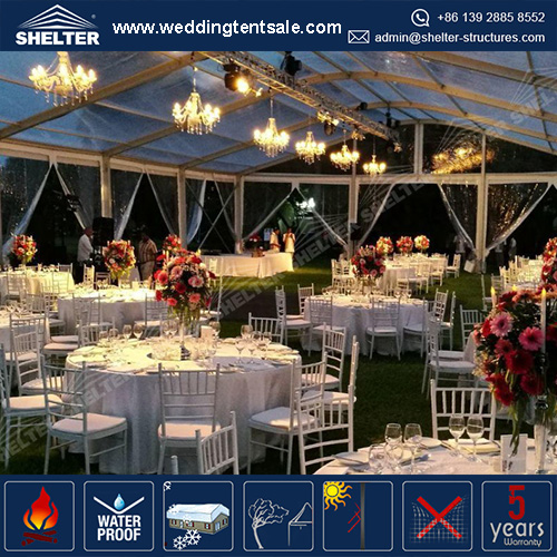 Curved Event Tent in 15 x 30 meters for Banquet in Garden | For Sale