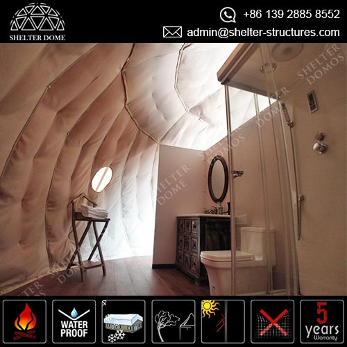 The Eco-living Dome Pod - A luxury glamping suite with bathroom