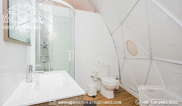 ecological dome-eco-living dome tent for sale - geodesic dome igloo for glamping eco-resort (10)