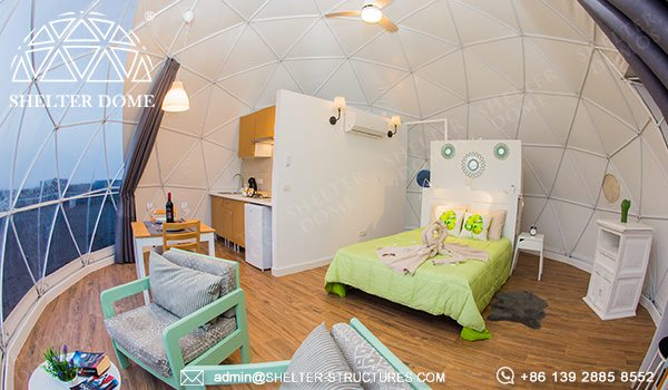 ecological dome-eco-living dome tent for sale - geodesic dome igloo for glamping eco-resort (3)