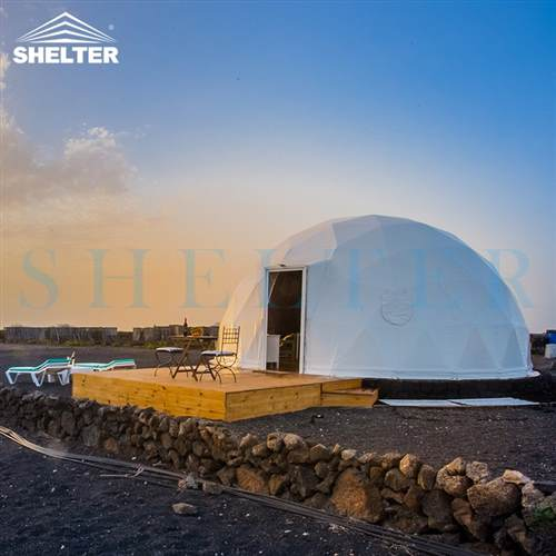 7m Ecological Dome Igloo for Mountain Glamping Camp