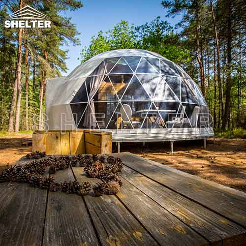7m Dwell Dome with Stylish Interior Design for Glamping Stay of 2-4 people